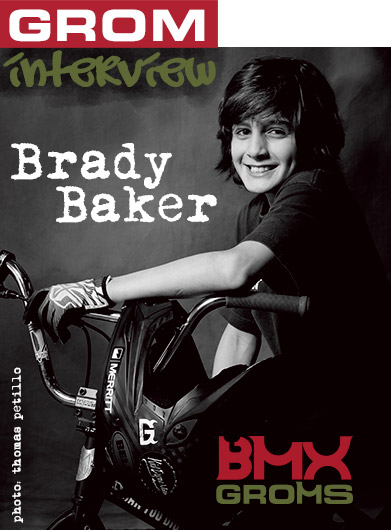 Young BMX Rider Brady Baker interviewed by BMX Groms