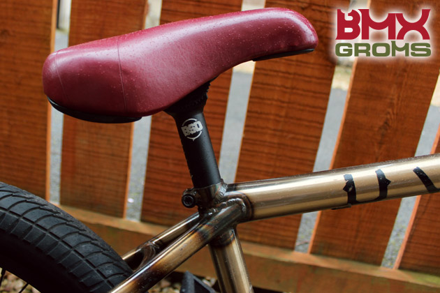 "Anthony Duffy 18"" BMX Bike Check Seat Detail"
