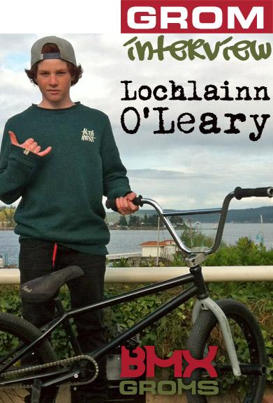 Lochlainn O'Leary BMX Rider Interview with BMX Groms