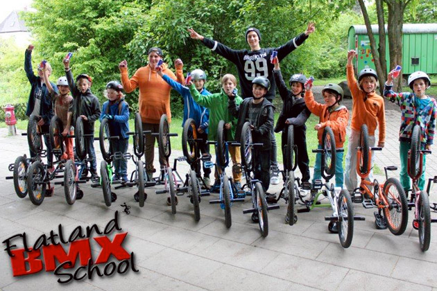 Markus Schwital's flatland BMX School in Germany