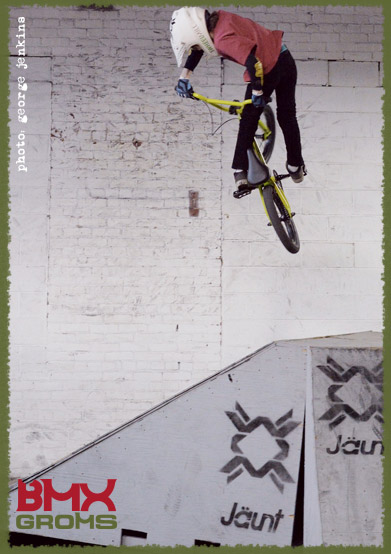 "Nathan Halahan cranks a turndown on the 16"" Sunday Primer BMX"