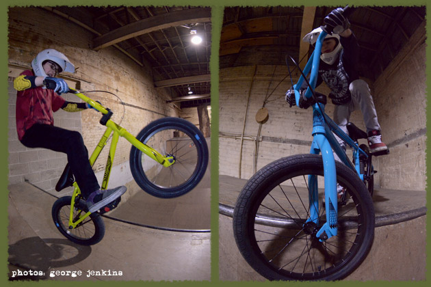 Nathan and Lukas Halahan getting tech on the Sunday Primer Bikes. The frame geometry makes a huge difference here, which younger BMX riders will really love.