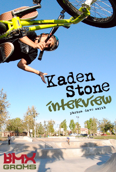 BMX Interview with 11 year old BMX Rider Kaden Stone on BMX Groms.