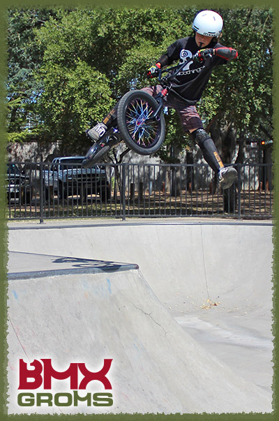 Ryan Slusher riding the 18 inch Sunday Radocaster BMX Bike