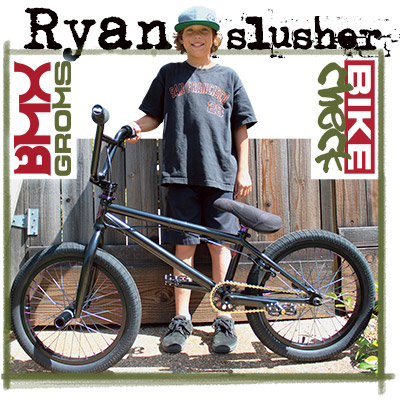Ryan Slusher's 18 inch bmx bike check Sunday Radocaster
