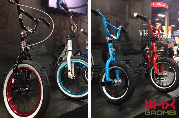 "The WeThePeople 12, 16 and 18"" bikes at Interbike 2014."
