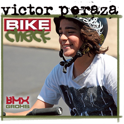 Victor Peraza Young BMX Rider 18 Inch Bike Check