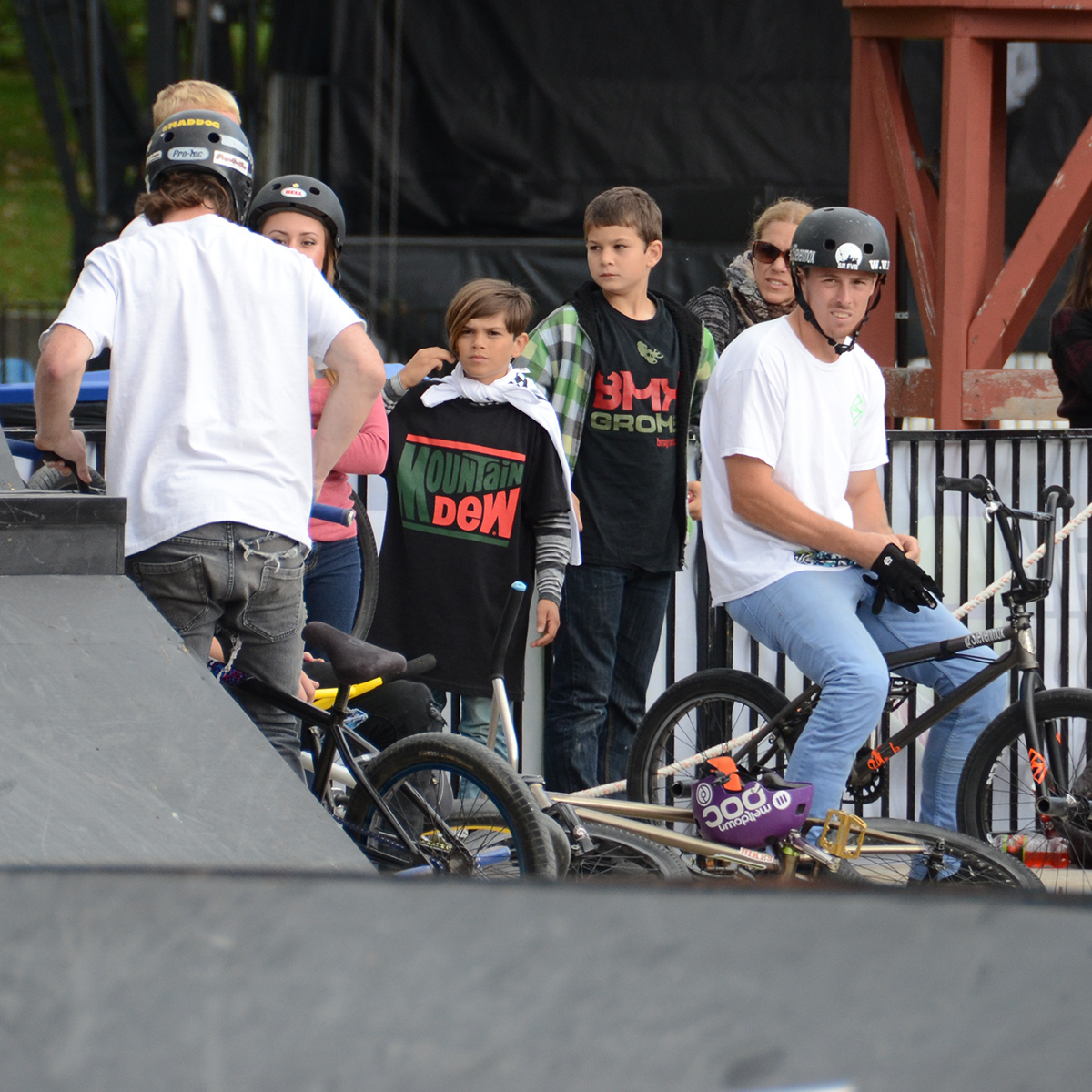BMX Grom spectators at BMX Dew Tour Am Series in Toronto