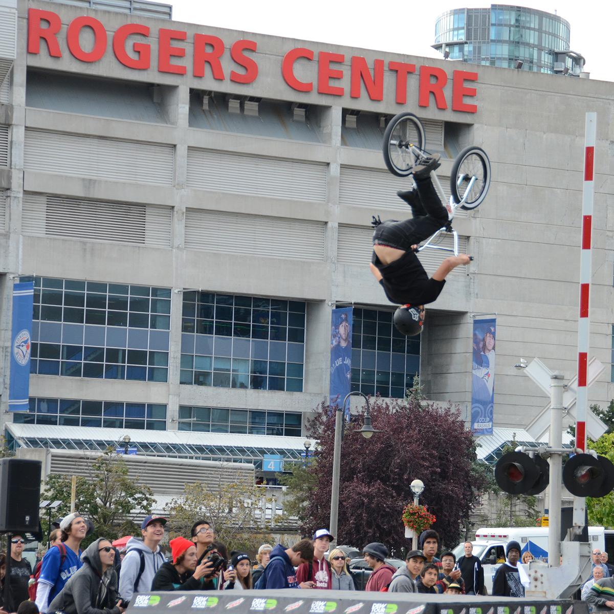 Back Flip at Dew Tour Am Series in Toronto