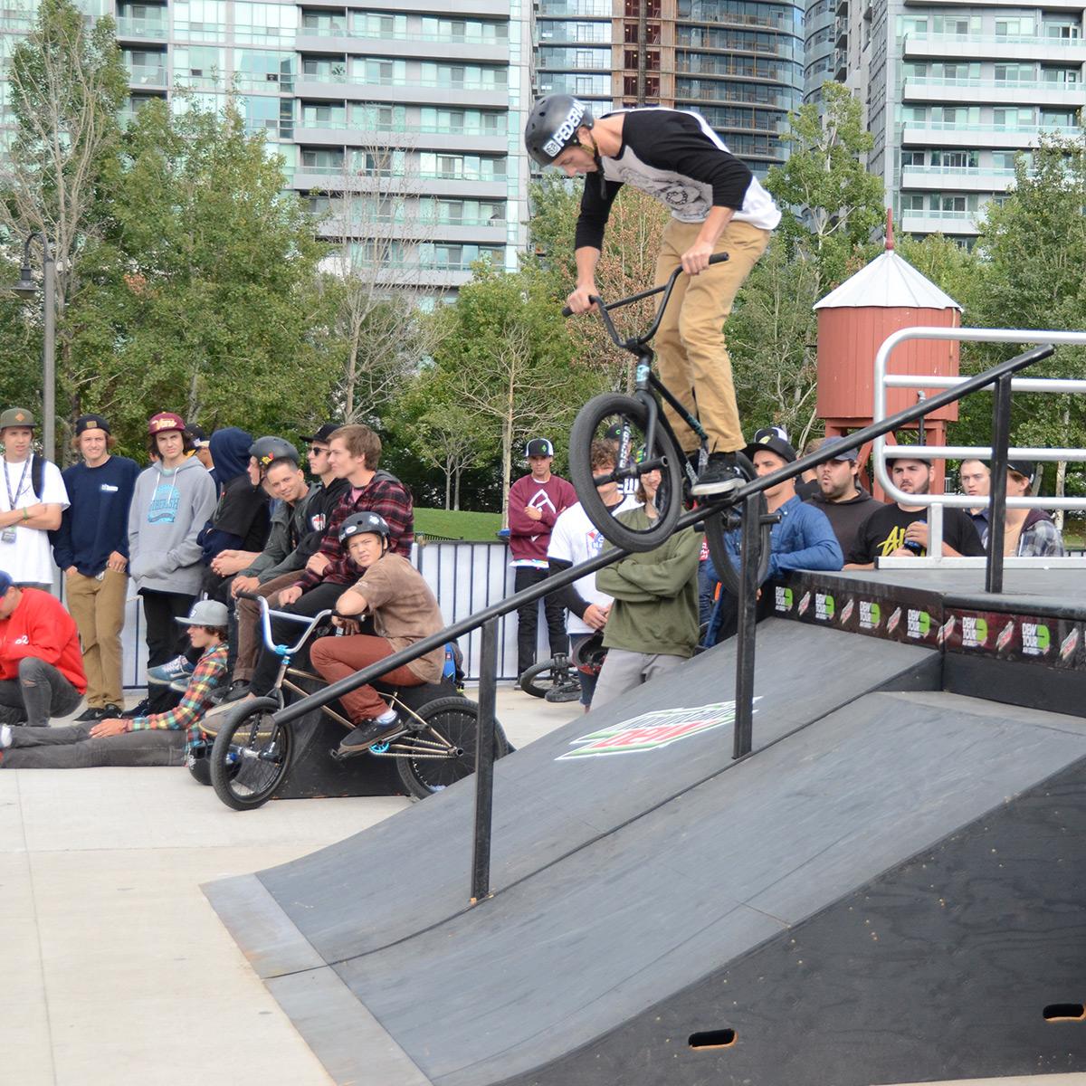 Crank Arm Grind at BMX Dew Tour Am Series in Toronto