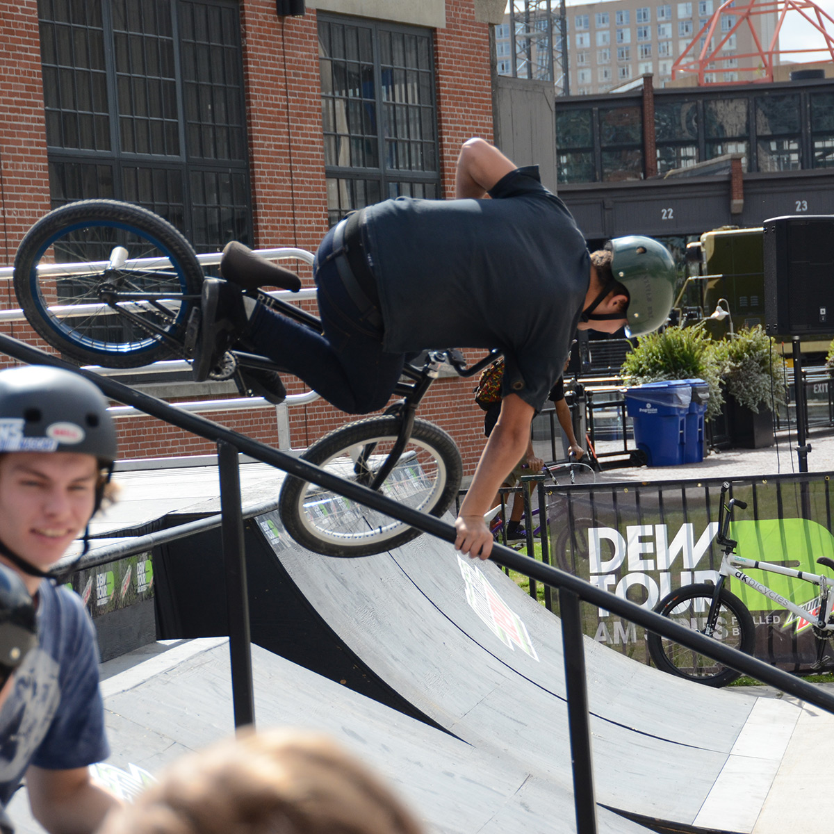 Rail Handplant at BMX Dew Tour Am Series in Toronto