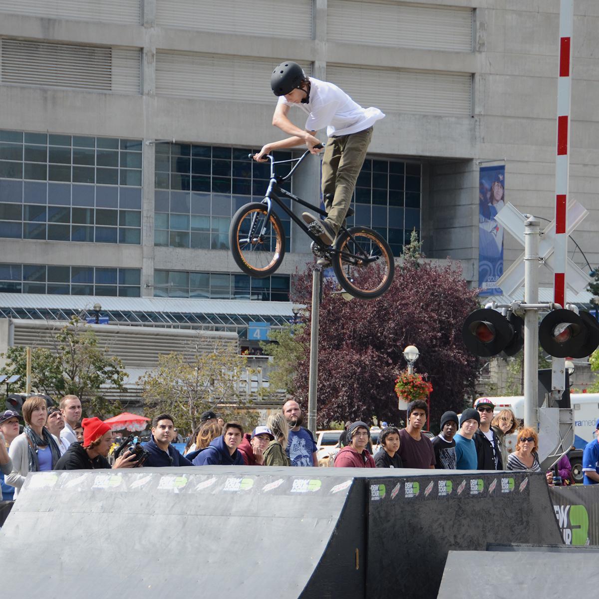 Matt Weatherall Cross-up at BMX Dew Tour Am Series in Toronto