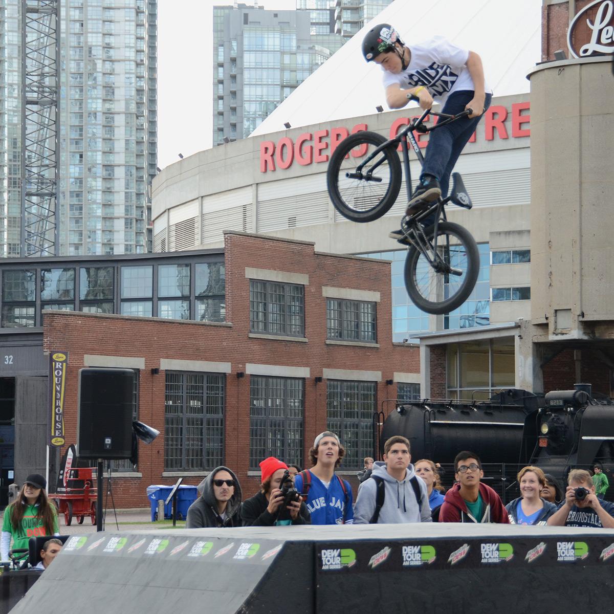Turndown at BMX Dew Tour Am Series in Toronto