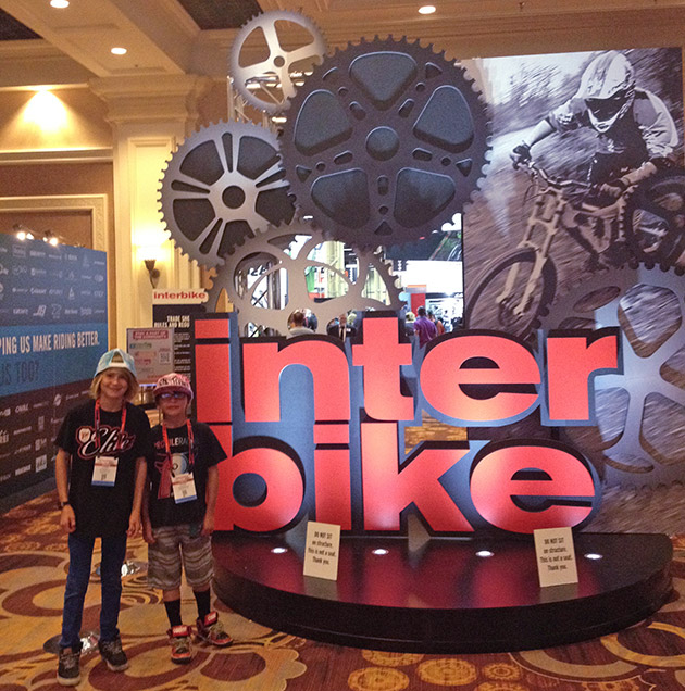 Lucas and Nathan Halahan at Interbike 2014