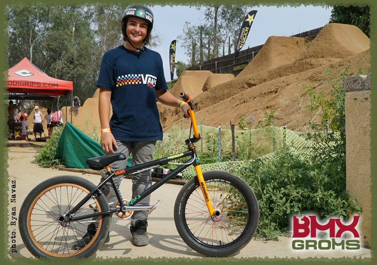 BMX Groms Bike Check with Bryce Tryon. Bryce at Woodward.