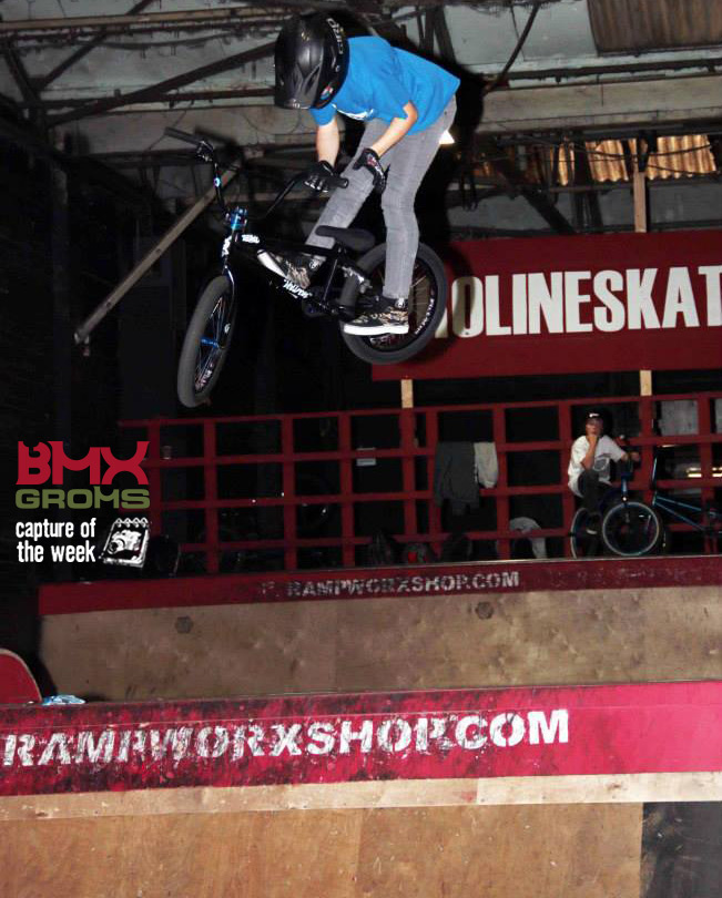 Dylan Hessey 11 year old BMX Rider doing a Truck Driver for Capture of the Week on BMX Groms