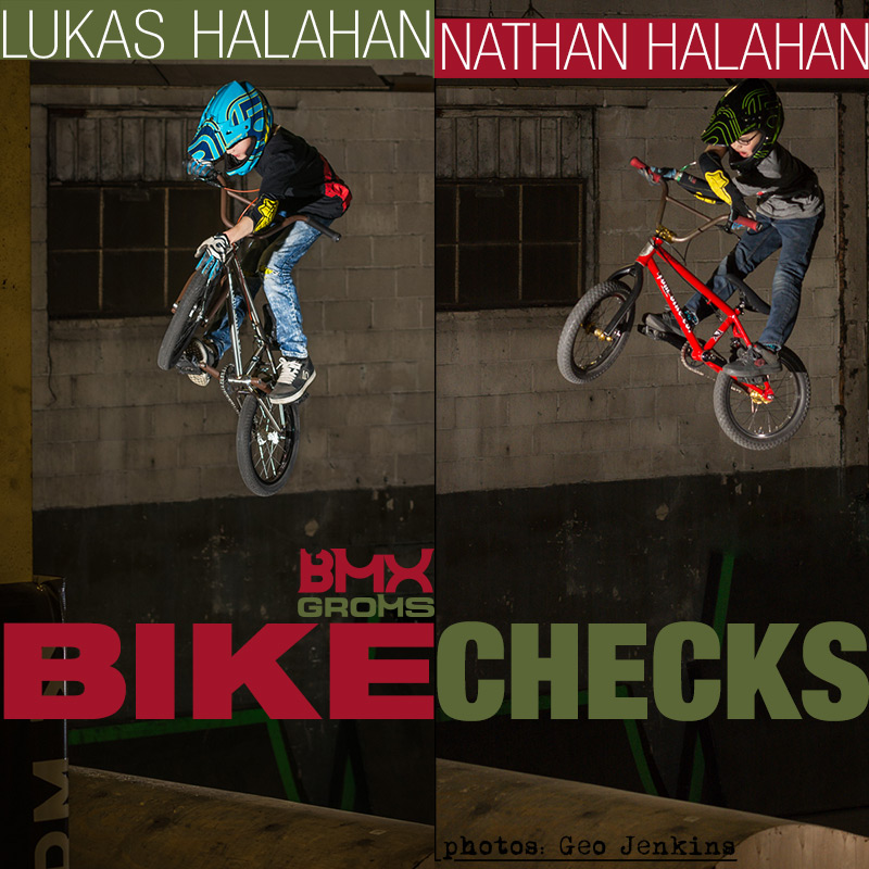 Lukas and Nathan Halahan, 16 and 18 inch BMX Bike Checks