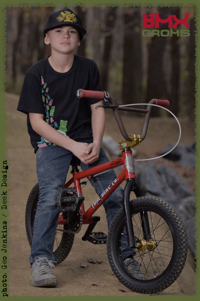 Nathan Halahan 18 inch FBM custom BMX Bike Check on BMX Groms