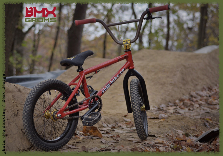 Nathan Halahan 16 inch custom FBM BMX Bike Check with BMX Groms