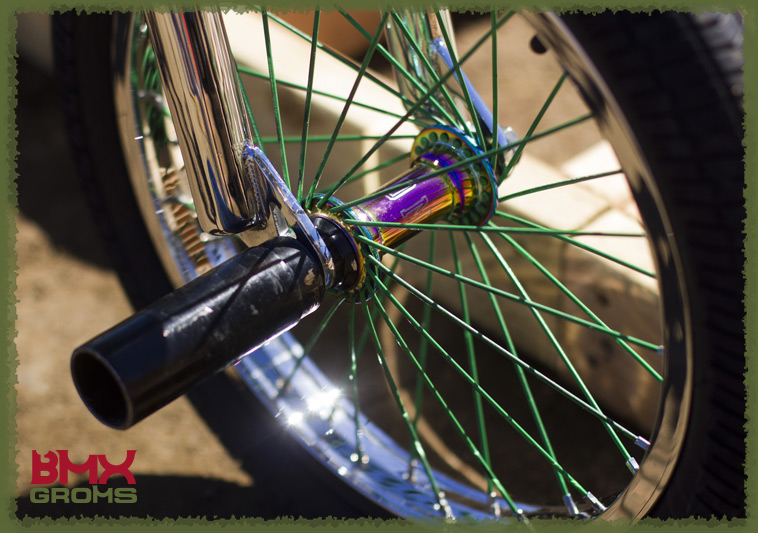 """Ryder Lawrence with his 16"""" BMX Bike for BMX Groms 16 inch Bike Check Front Wheel"""