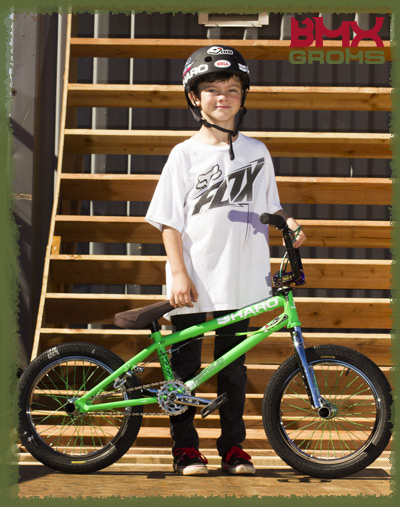 "Ryder Lawrence with his 16"" BMX Bike for BMX Groms 16 inch Bike Check"