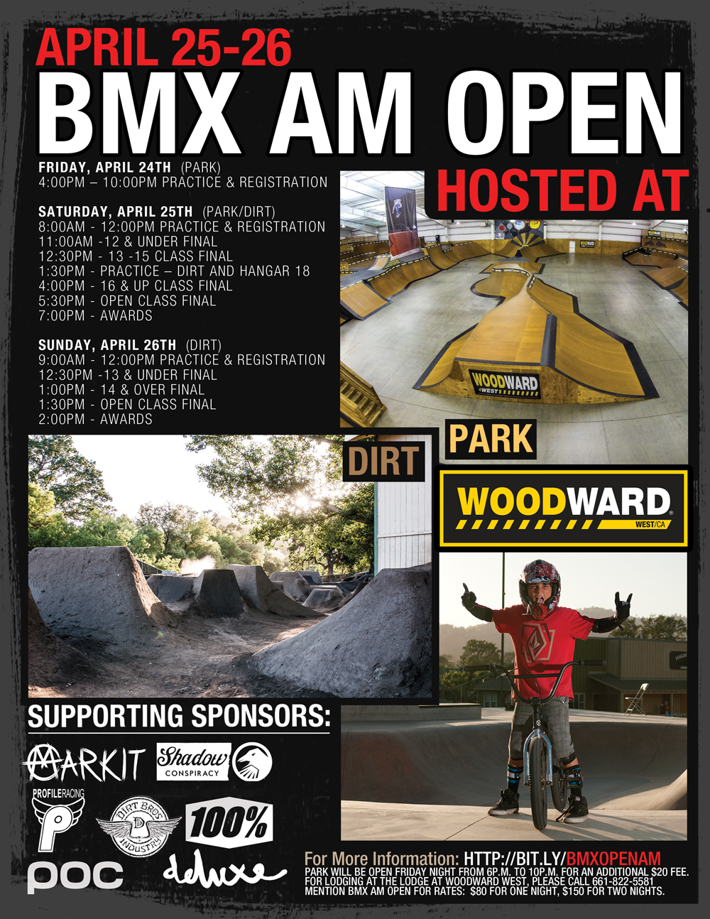 Woodward West AM Open BMX Contest Poster