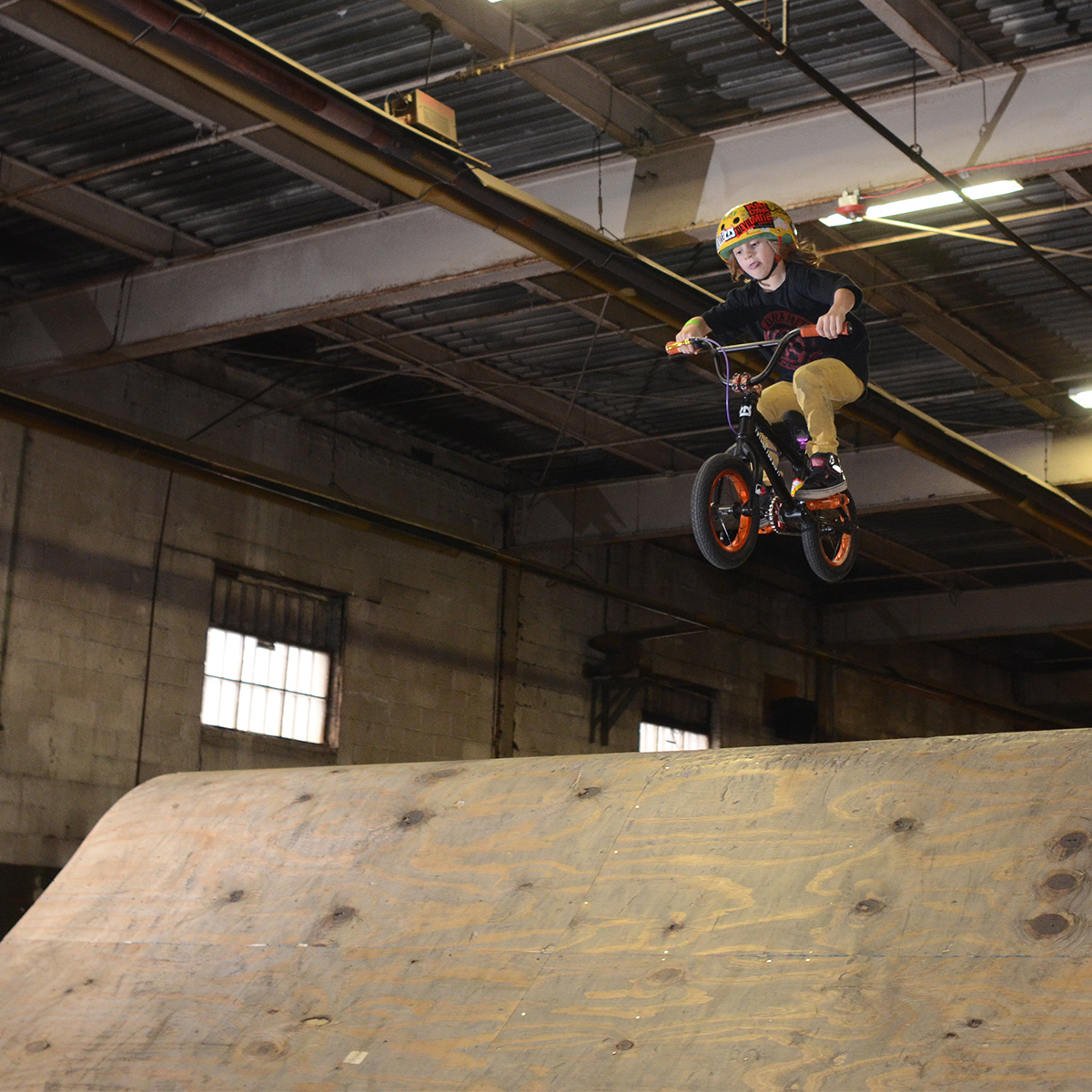TBT to last March at the Next Gen Jam at the Wheelmill in PA. 5 yr old Beau Baker takes on the Woods Jump Room. Photo: Dave Billington