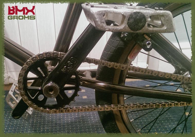 Kieran Reilly 18 Inch BMX Bike Check Cranks Drivetrain