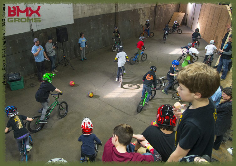 Foot down contest at the Next Gen BMX Jam