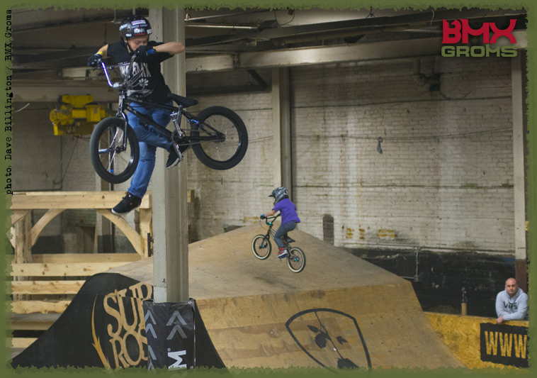 12 year old Marcus Christopher tweaks a Nac Nac in the Woods Jump Room.