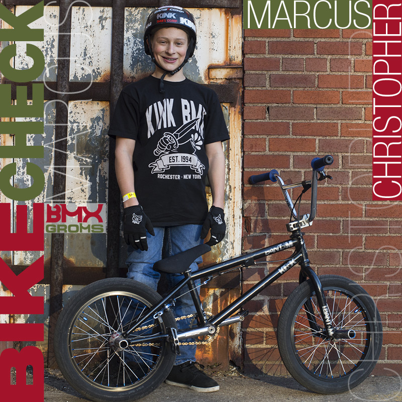 "Marcus Christopher 18"" Kink BMX Bike Check on BMX Groms"