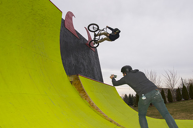Lil Pros BMX Tour Dustin Grice Filming Steven Moxley
