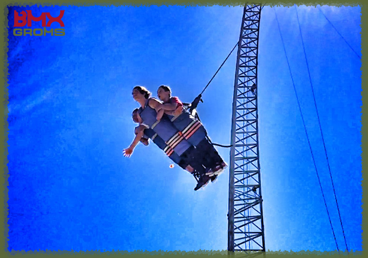 Bryce Tryon and Kaden Stone have some fun with the Skydrop.