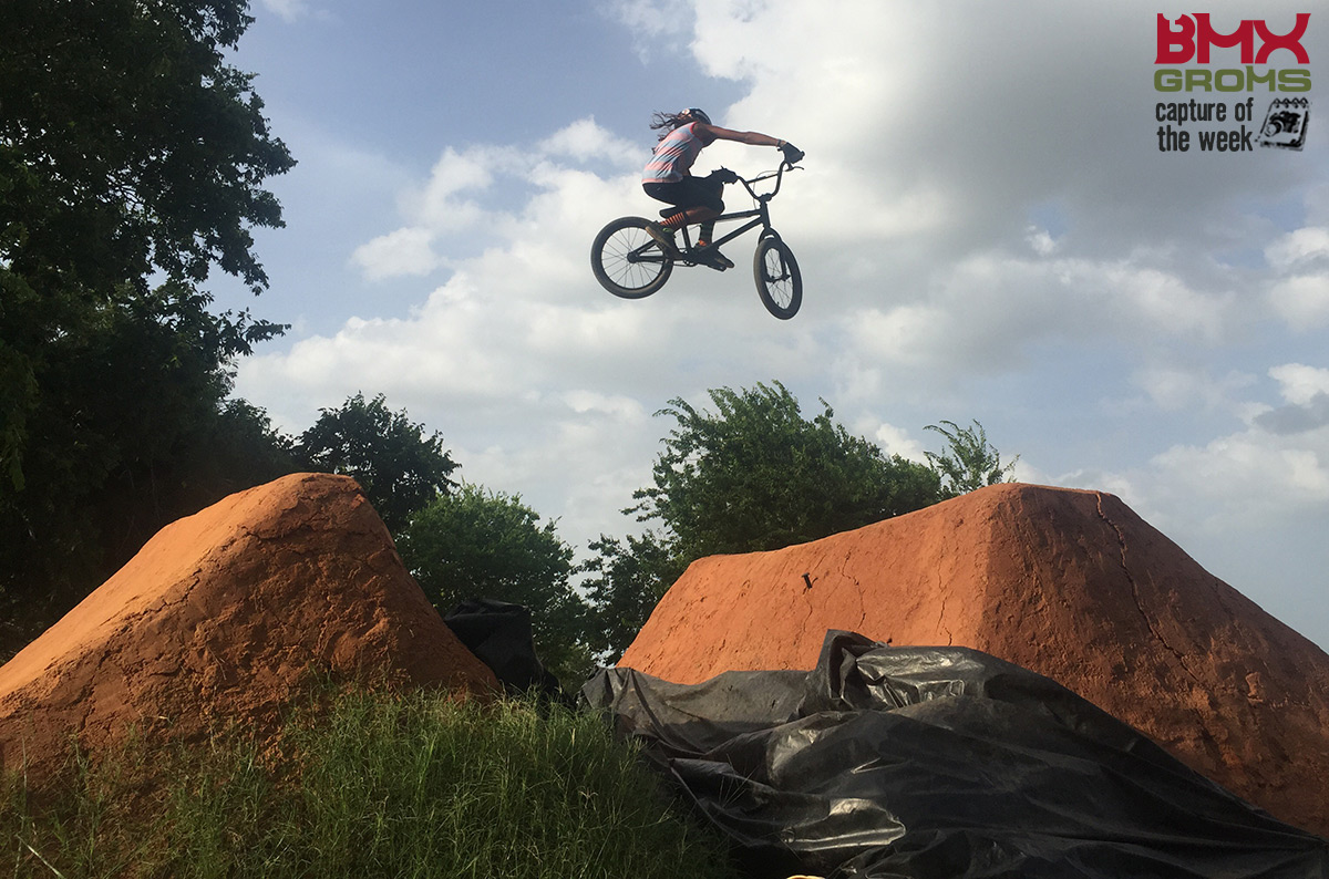 9 Year old BMX Rider Jack Parkin hitting a BMX trails set for BMX Groms Capture of the Week