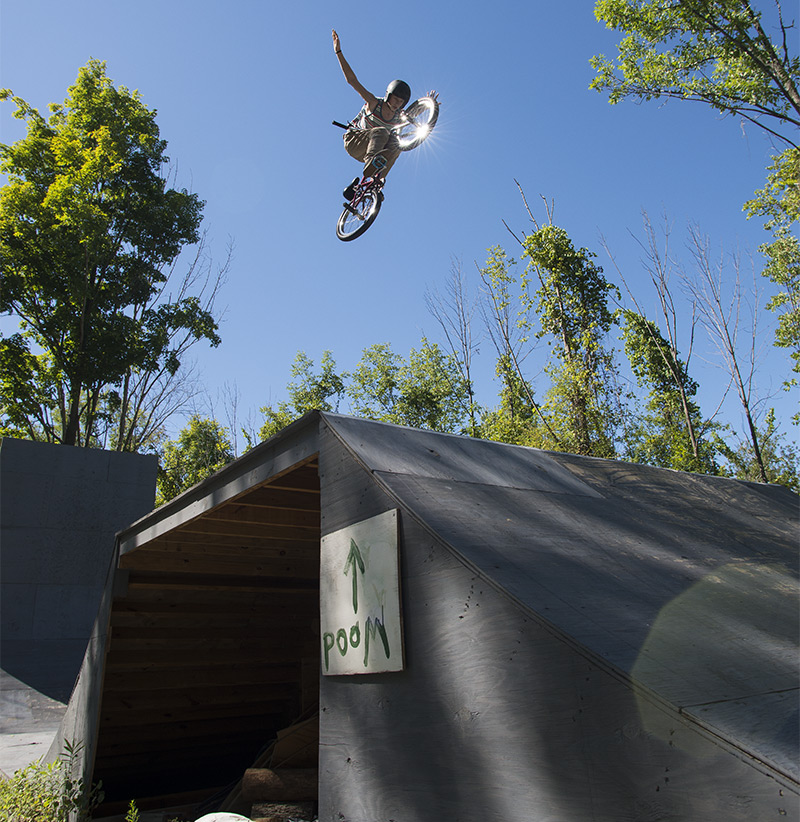 Jayden Mucha BMX Rider Backyard Ramp