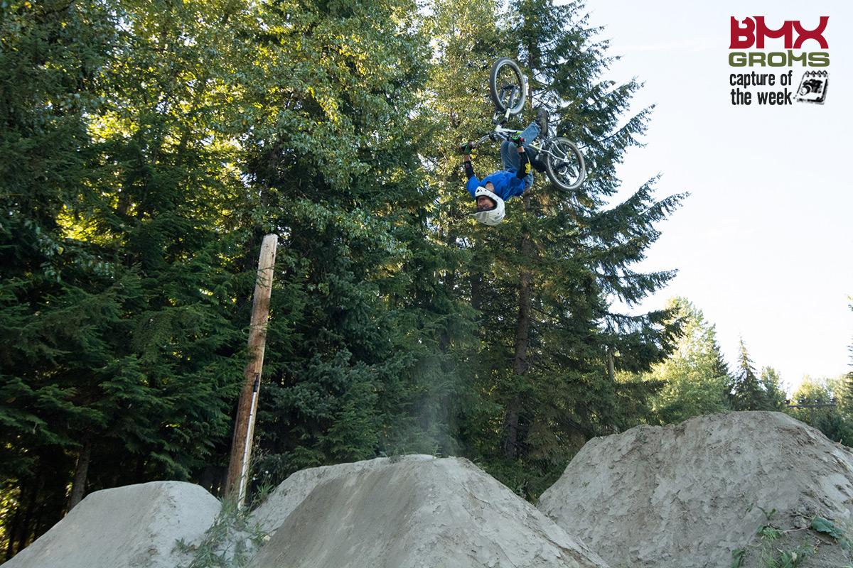 Nathan Halahan BMX Backflip.