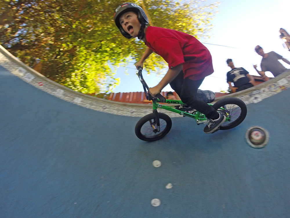 Ryder Lawrence shreds an L.A. pool on his BMX for a Music Video