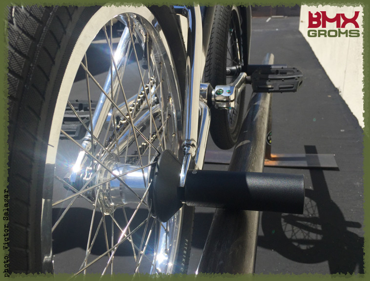 Max Vu BMX Bike Check Rear Hub and Bike Side
