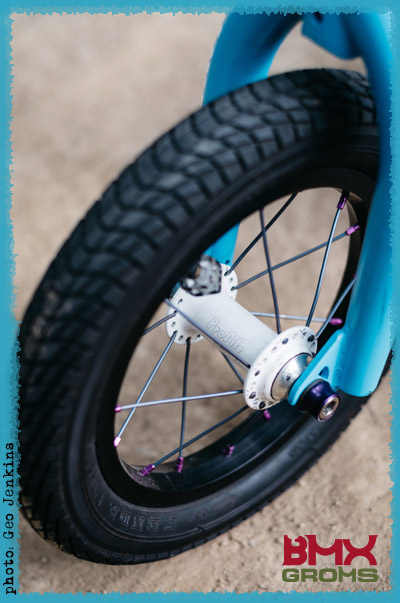 Kaci Halahan BMX Bike Check Custom Front 12 Inch Wheel Profile Hubs