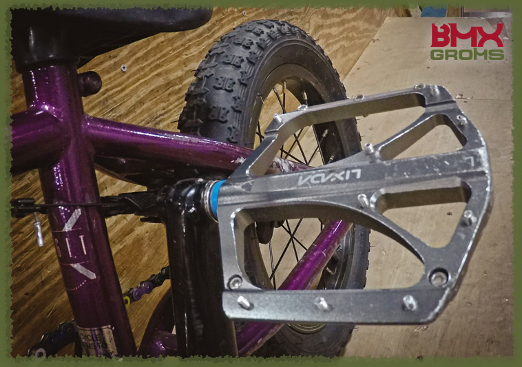 Jensen Anders 14 inch Blank BMX Bike Check Pedals